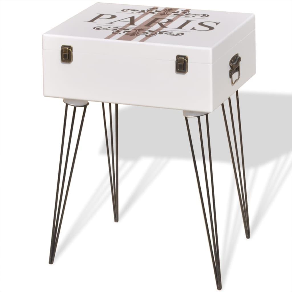 vidaXL Szafka w kształcie białej walizki 40x30x57 cm