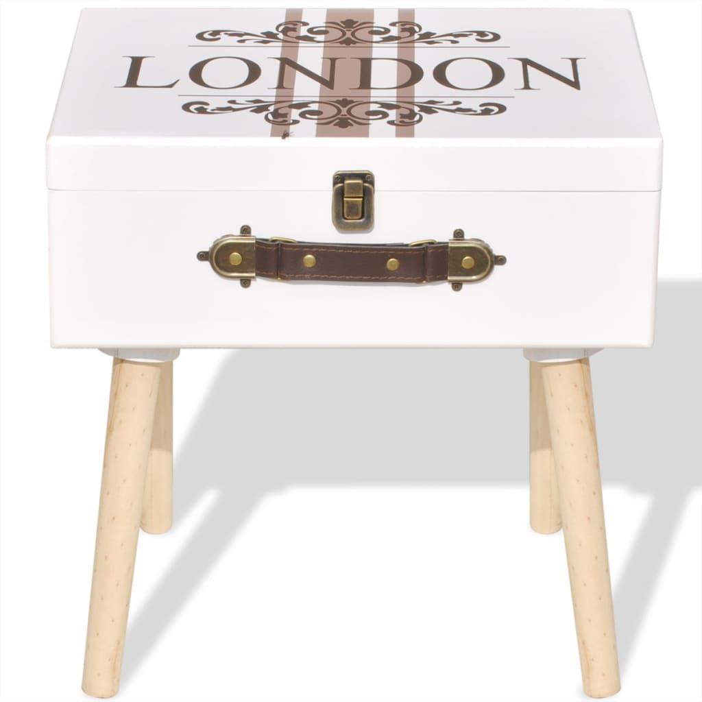 suitcase shape side cabinet telephone stand bedroom. Black Bedroom Furniture Sets. Home Design Ideas