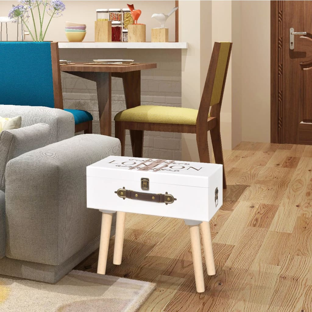 Suitcase Shape Side Cabinet Telephone Stand Bedroom
