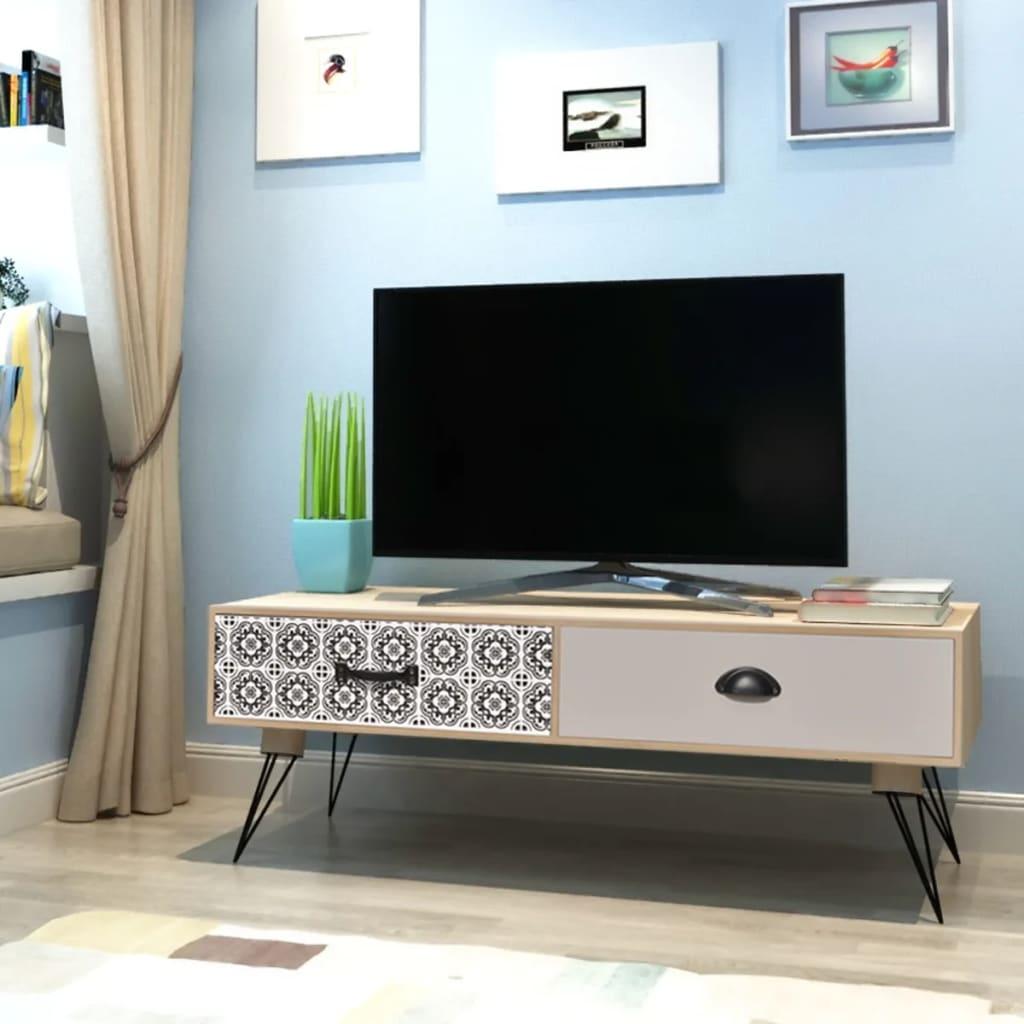 vidaXL TV állvány 100x40x35 cm barna