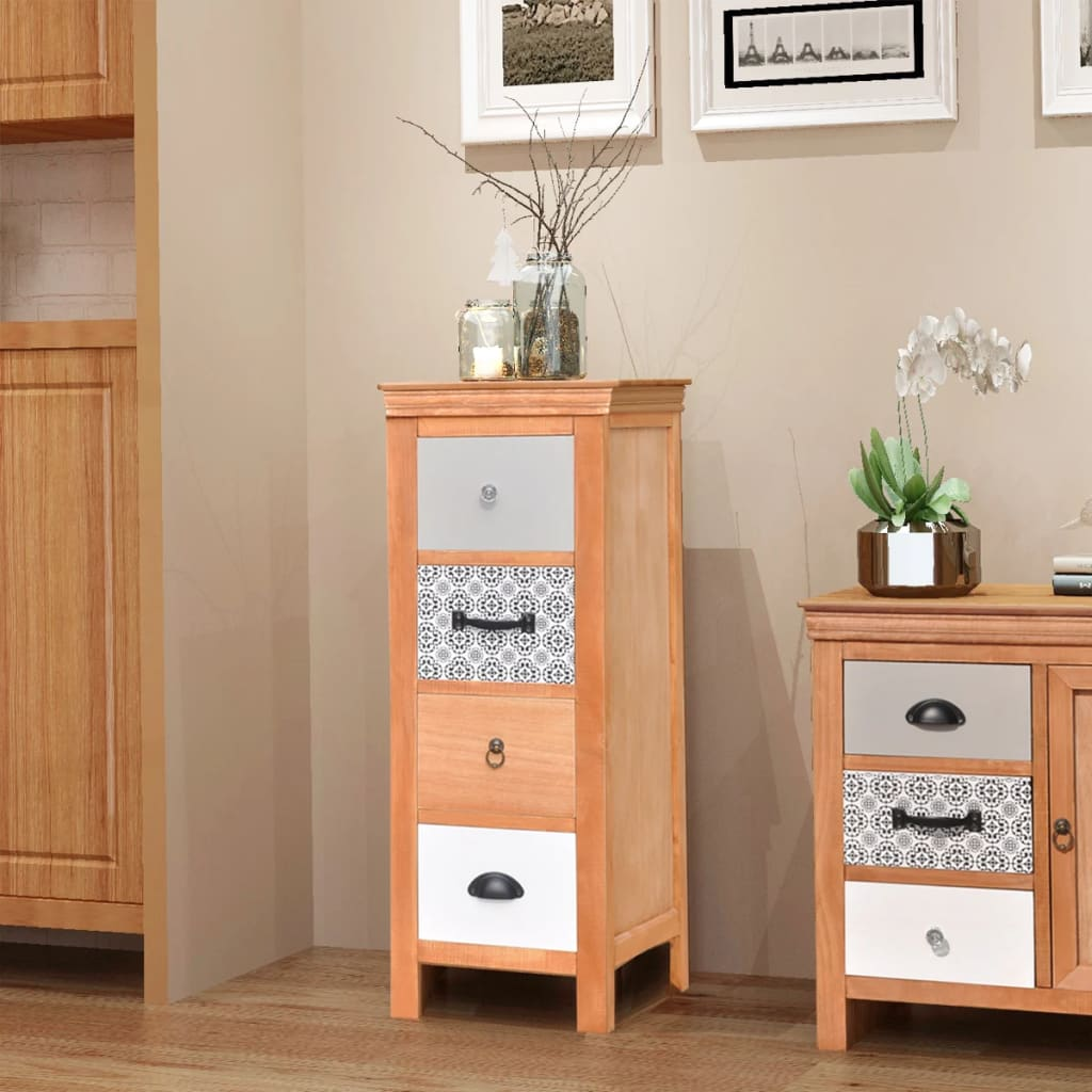 acheter vidaxl armoire tiroir 35 x 35 x 90 cm bois. Black Bedroom Furniture Sets. Home Design Ideas