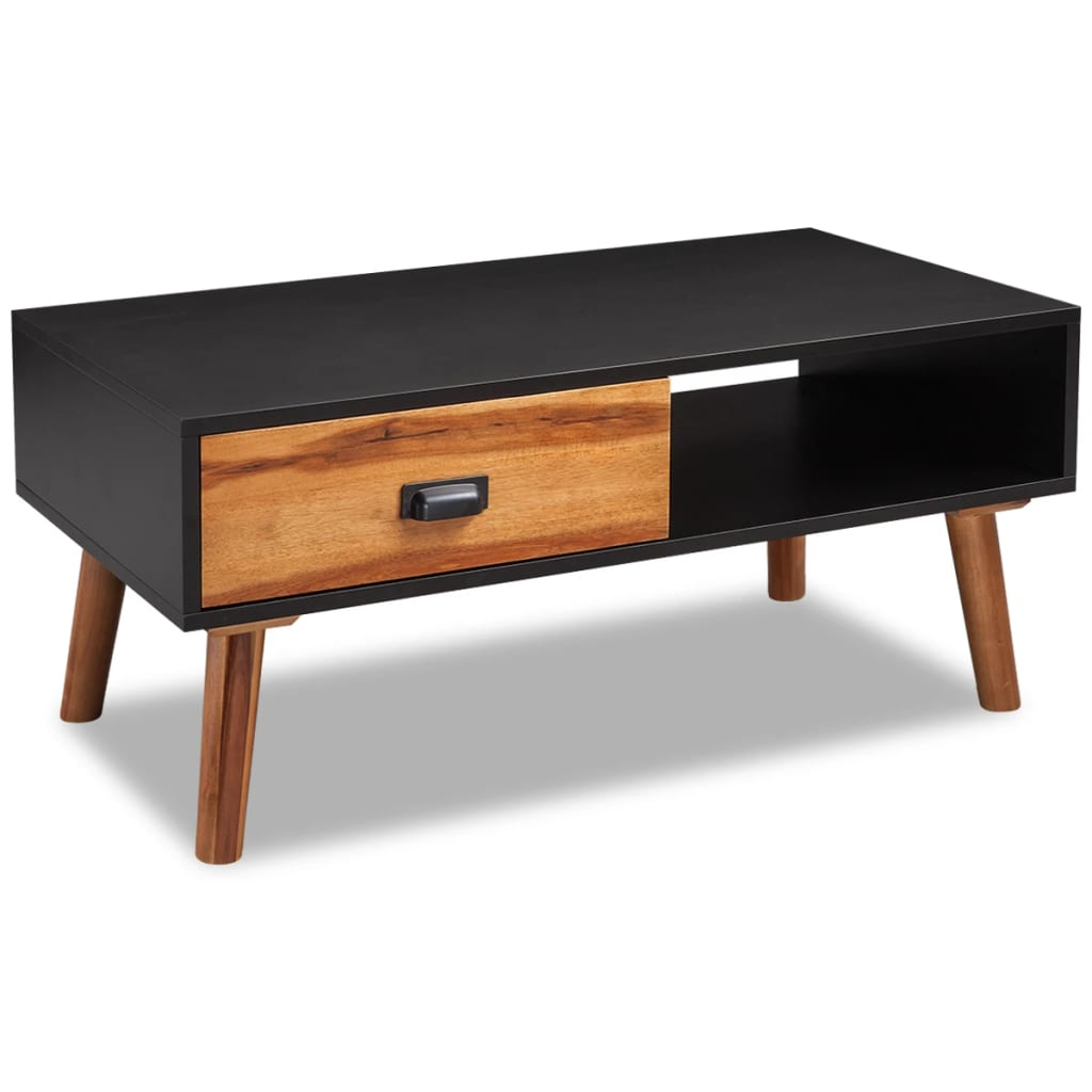 Vidaxl solid acacia wood coffee table 90x50x40 cm vidaxl for Table induction 90 cm