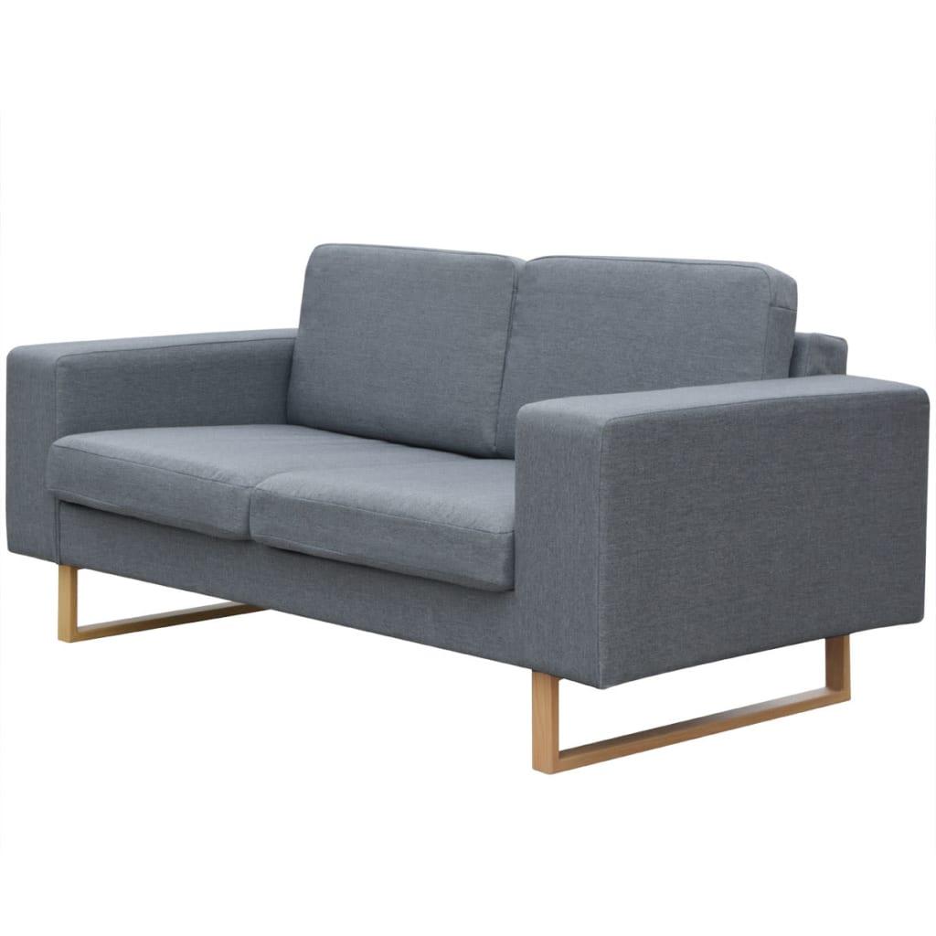 vidaXL Sofa 2-os. jasnoszara
