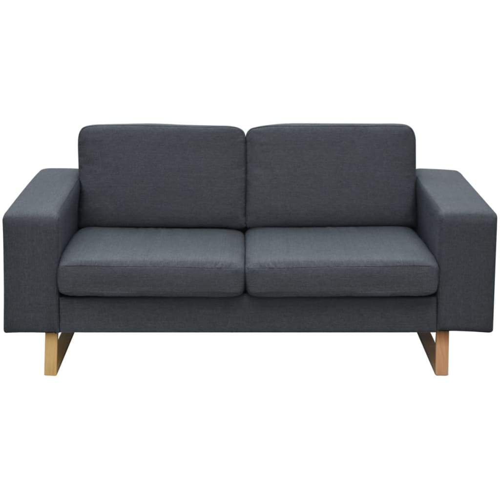 der vidaxl 2 sitzer sofa stoff dunkelgrau online shop. Black Bedroom Furniture Sets. Home Design Ideas