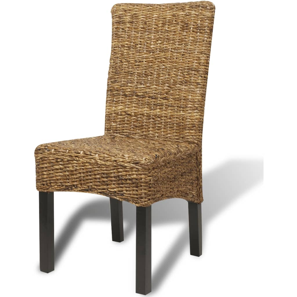 vidaXL Dining Chairs 2 pcs Abaca Brown vidaXLcouk : image from www.vidaxl.co.uk size 1024 x 1024 jpeg 102kB