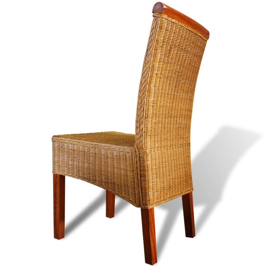 La boutique en ligne vidaxl chaises de salle manger 2 for Chaises salle a manger rotin