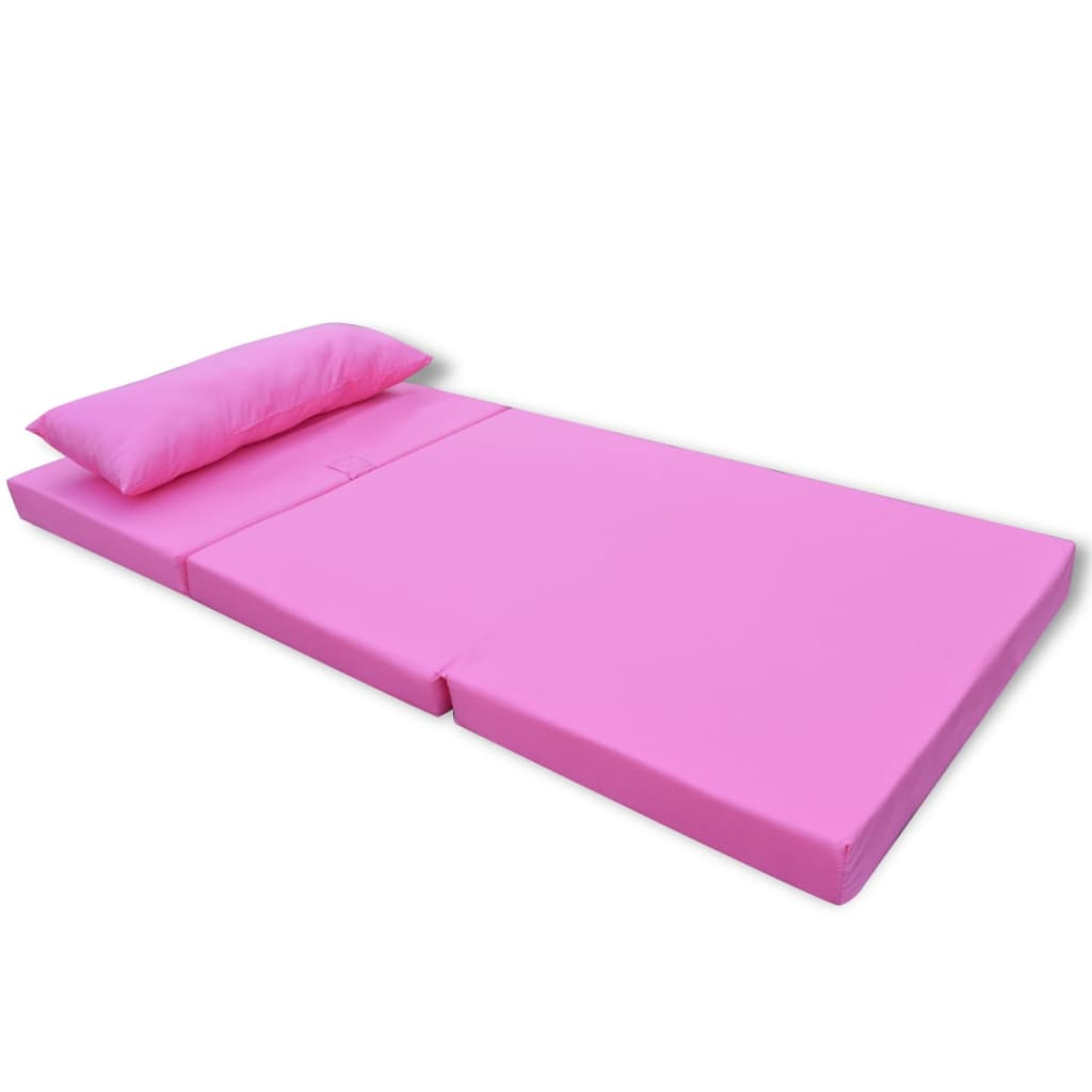 la boutique en ligne vidaxl matelas pliable pour enfants rose. Black Bedroom Furniture Sets. Home Design Ideas