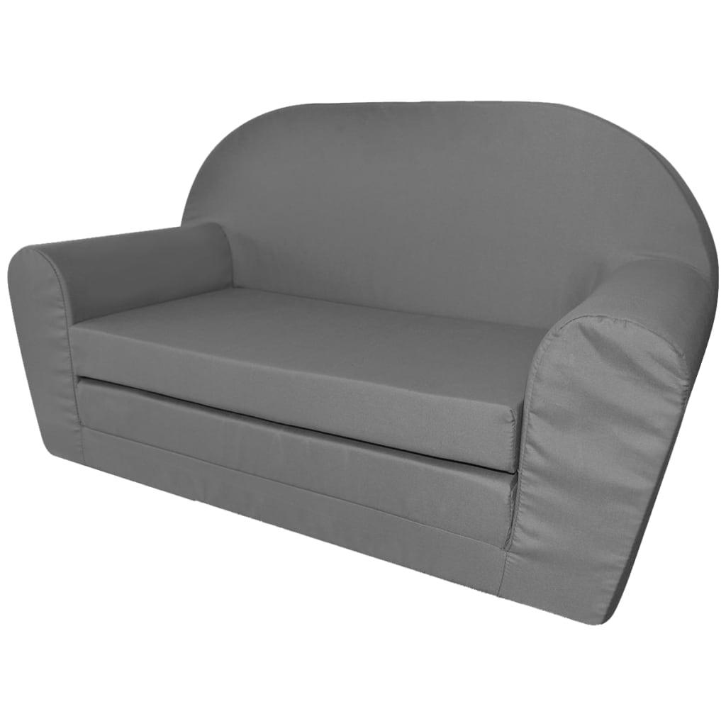 Acheter vidaxl chaise longue pliable pour enfants gris pas for Chaise longue pour piscine pas cher