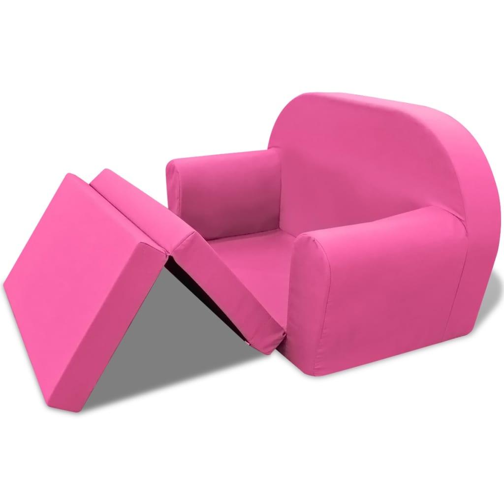 acheter vidaxl chaise longue pliable pour enfants rose pas. Black Bedroom Furniture Sets. Home Design Ideas