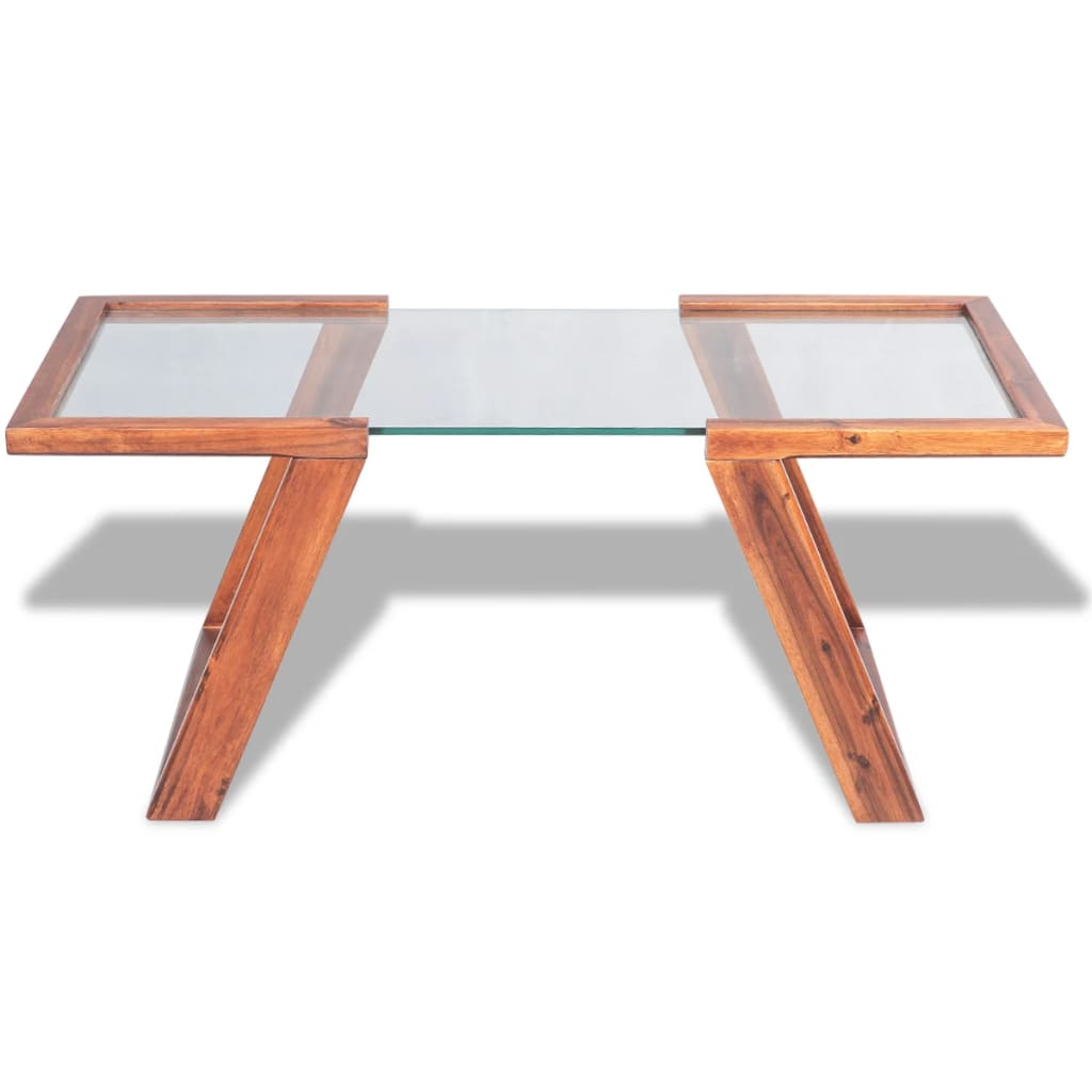 Vidaxl Coffee Table Solid Acacia Wood Brown 100x50x40 Cm