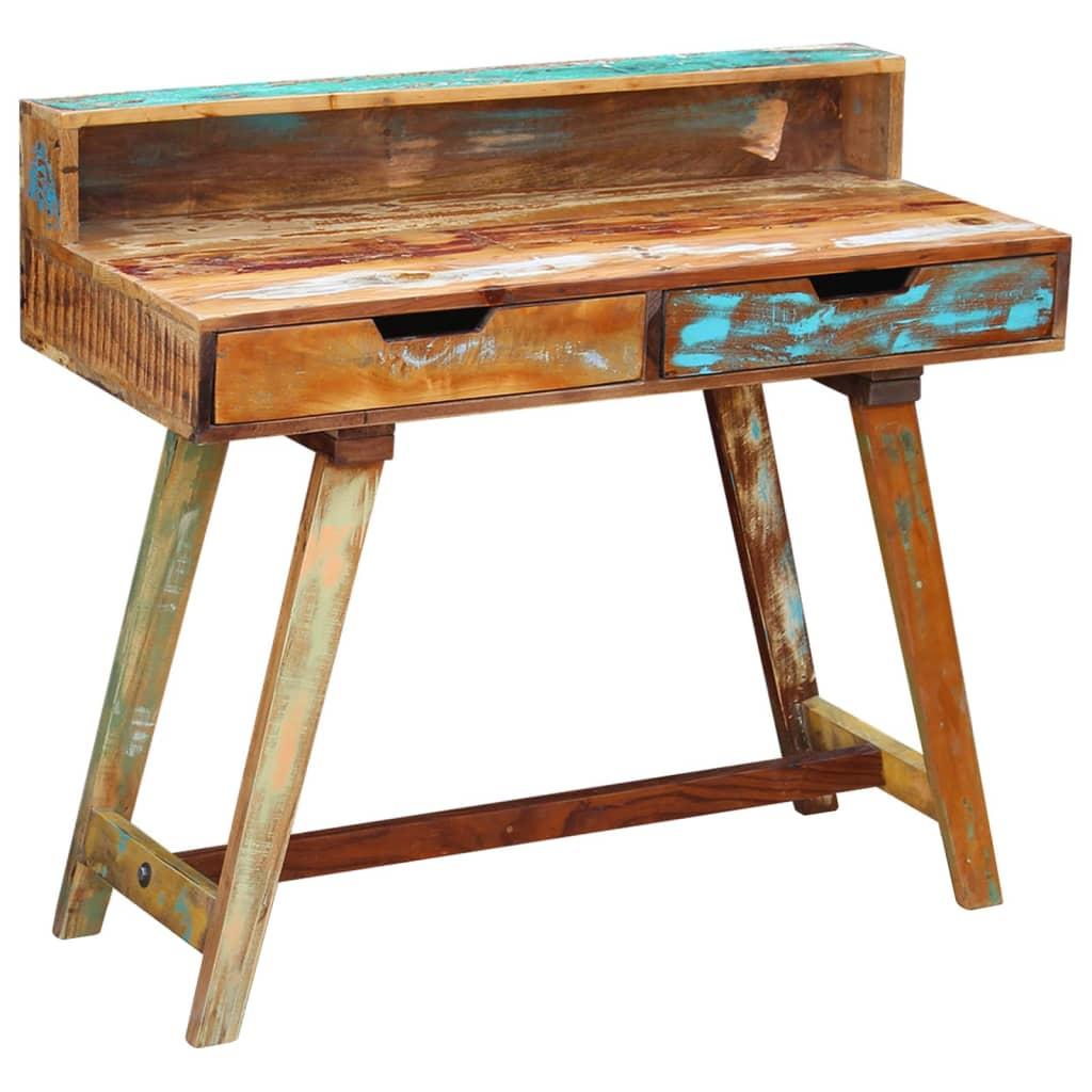 La boutique en ligne vidaxl bureau bois de r cup ration - Recuperation de bois gratuit ...