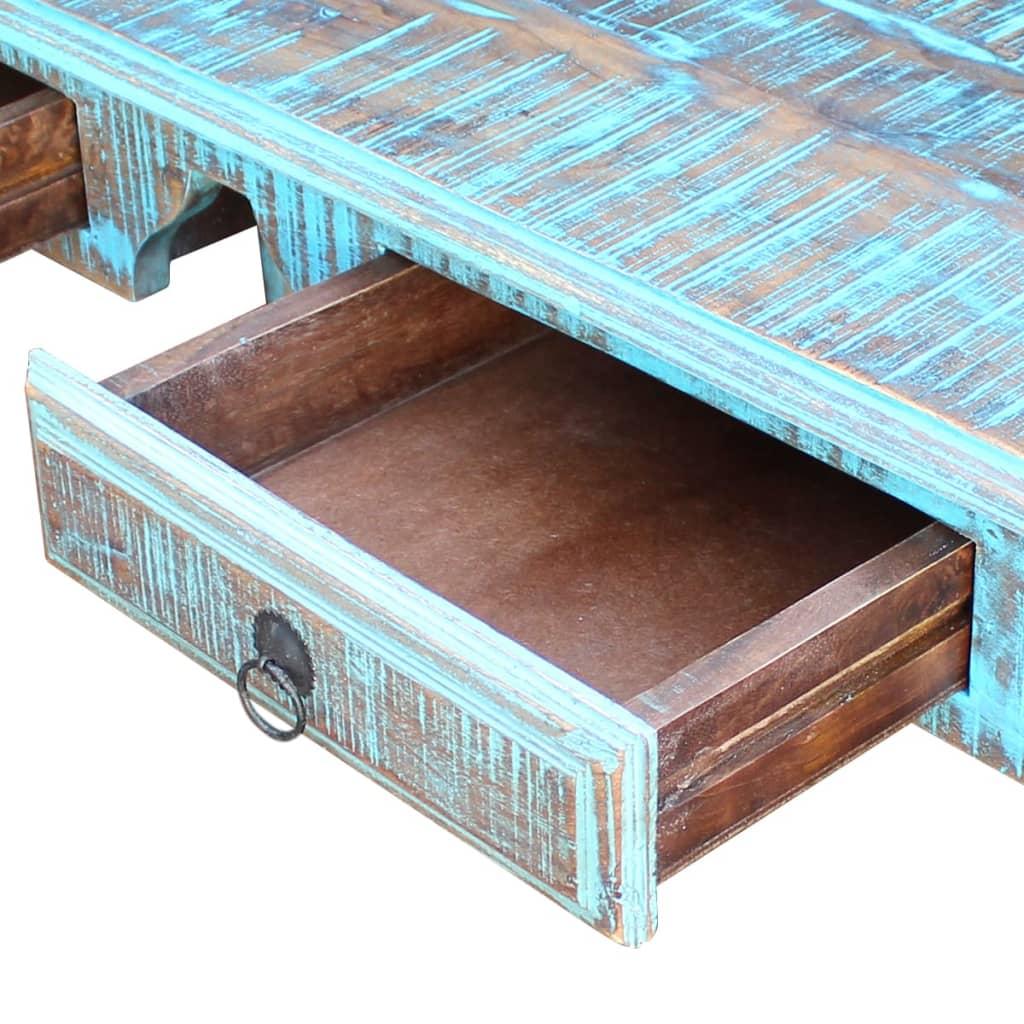 Vidaxl schreibtisch recyceltes massivholz g nstig kaufen for Schreibtisch massivholz