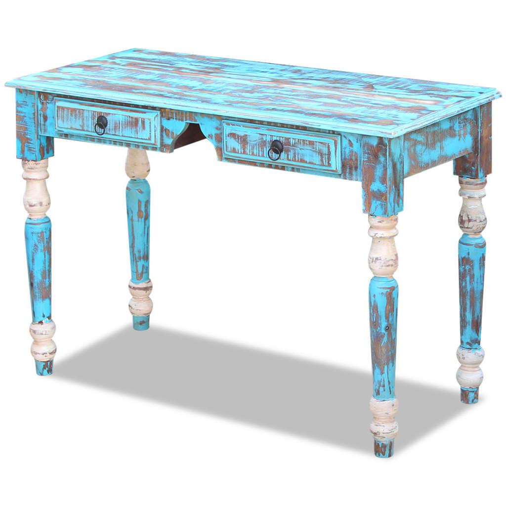 La boutique en ligne vidaxl bureau bois de r cup ration massif - Association de recuperation meubles gratuit ...