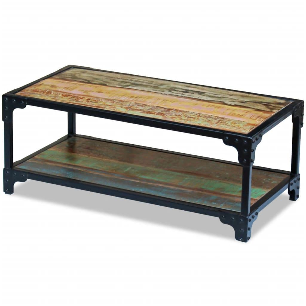 Solid Reclaimed Wood Coffee Table: VidaXL Coffee Table Solid Reclaimed Wood
