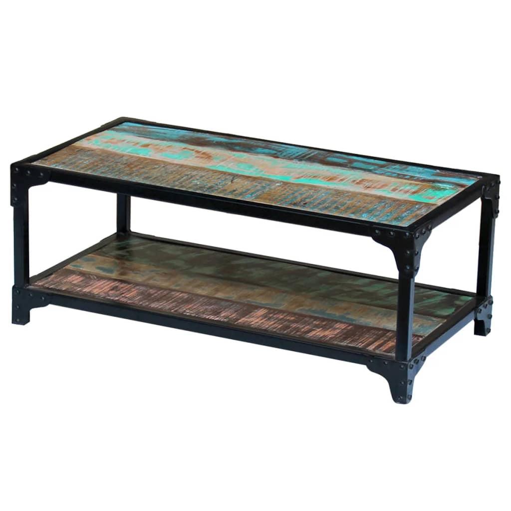 Vidaxl mesa de centro madera maciza reciclada - Mesa centro madera maciza ...