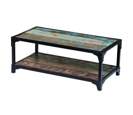 La boutique en ligne vidaxl table basse bois de r cup ration massif - Table basse recuperation ...