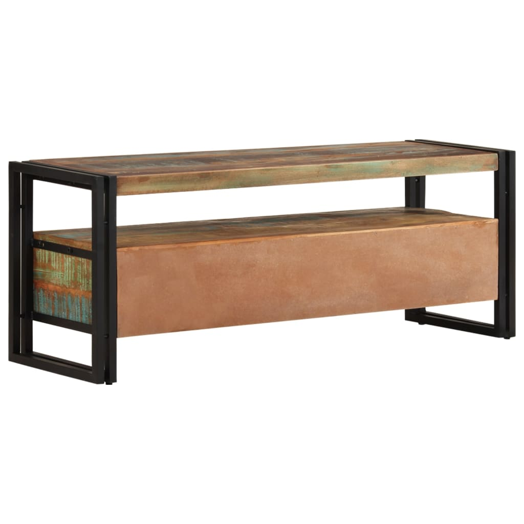 la boutique en ligne vidaxl meuble tv bois de r cup ration massif. Black Bedroom Furniture Sets. Home Design Ideas