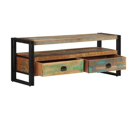 vidaxl meuble tv bois de r cup ration massif. Black Bedroom Furniture Sets. Home Design Ideas