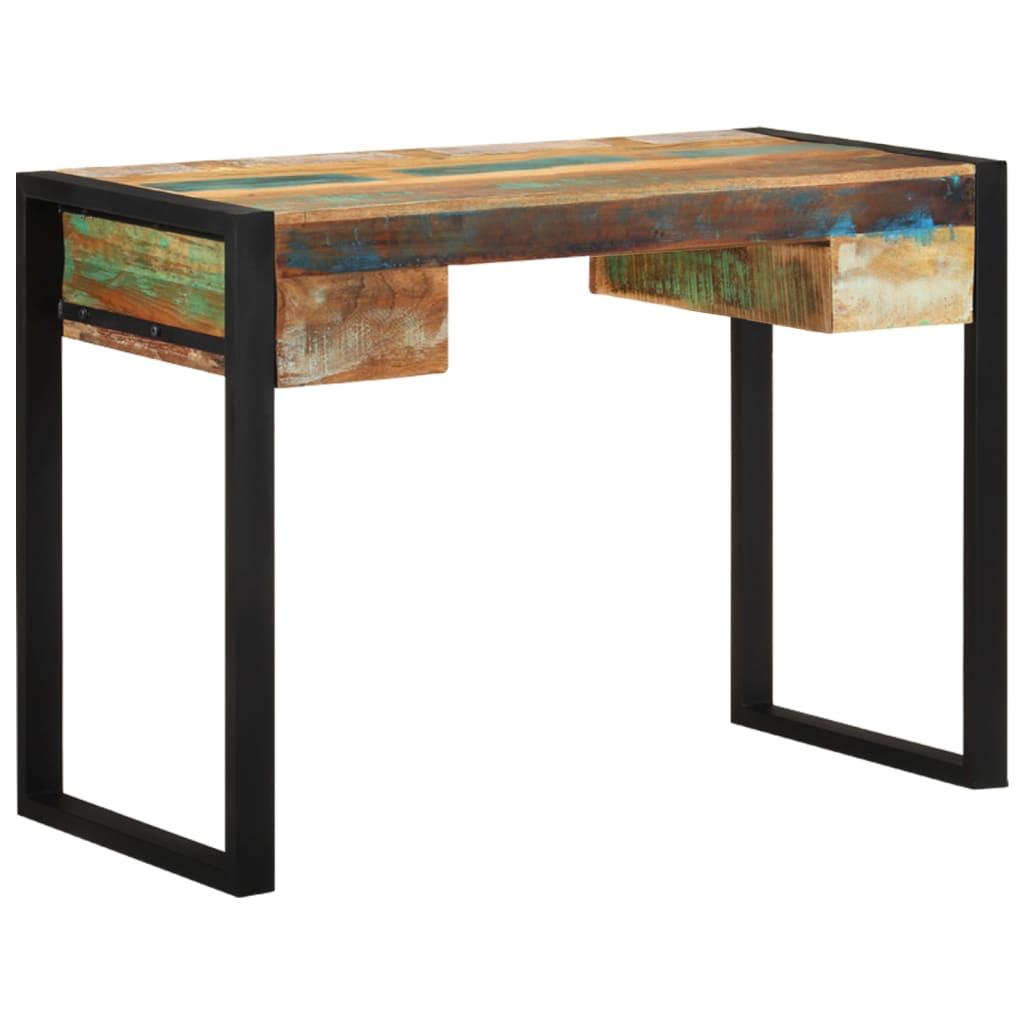 Der vidaxl schreibtisch recyceltes massivholz online shop for Schreibtisch amazon