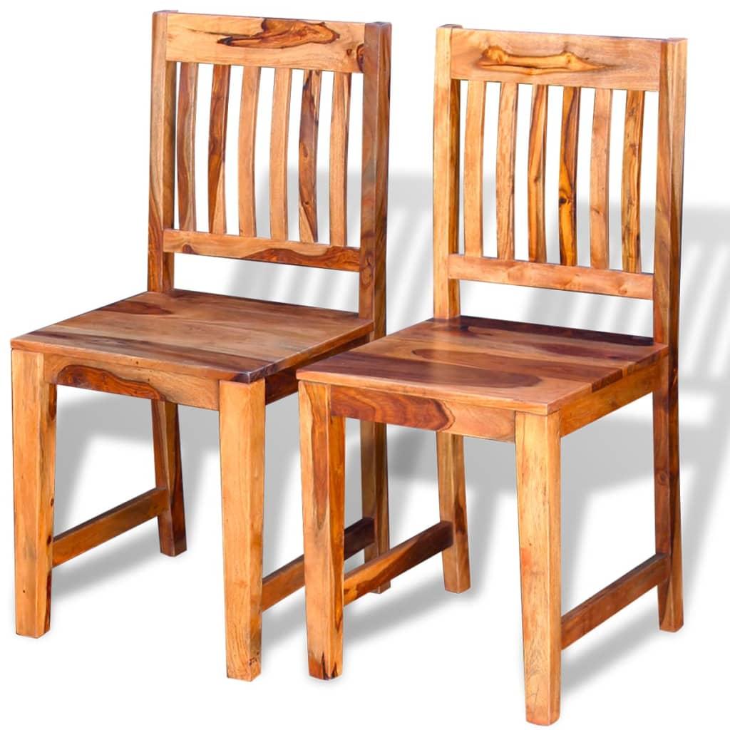 Vidaxl sillas de comedor de madera sheesham 2 unidades - Vidaxl sillas ...