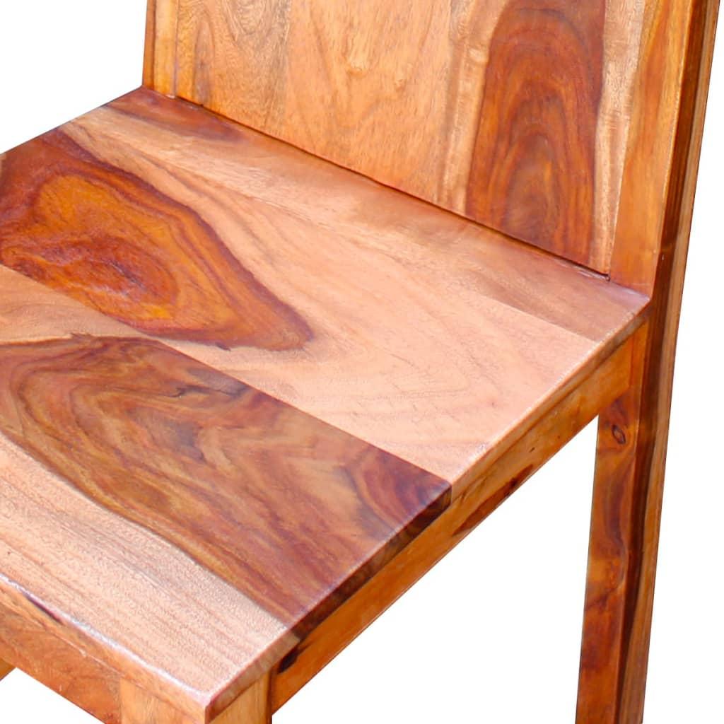 Vidaxl sillas de comedor de madera sheesham 2 unidades for Comedor 8 sillas madera
