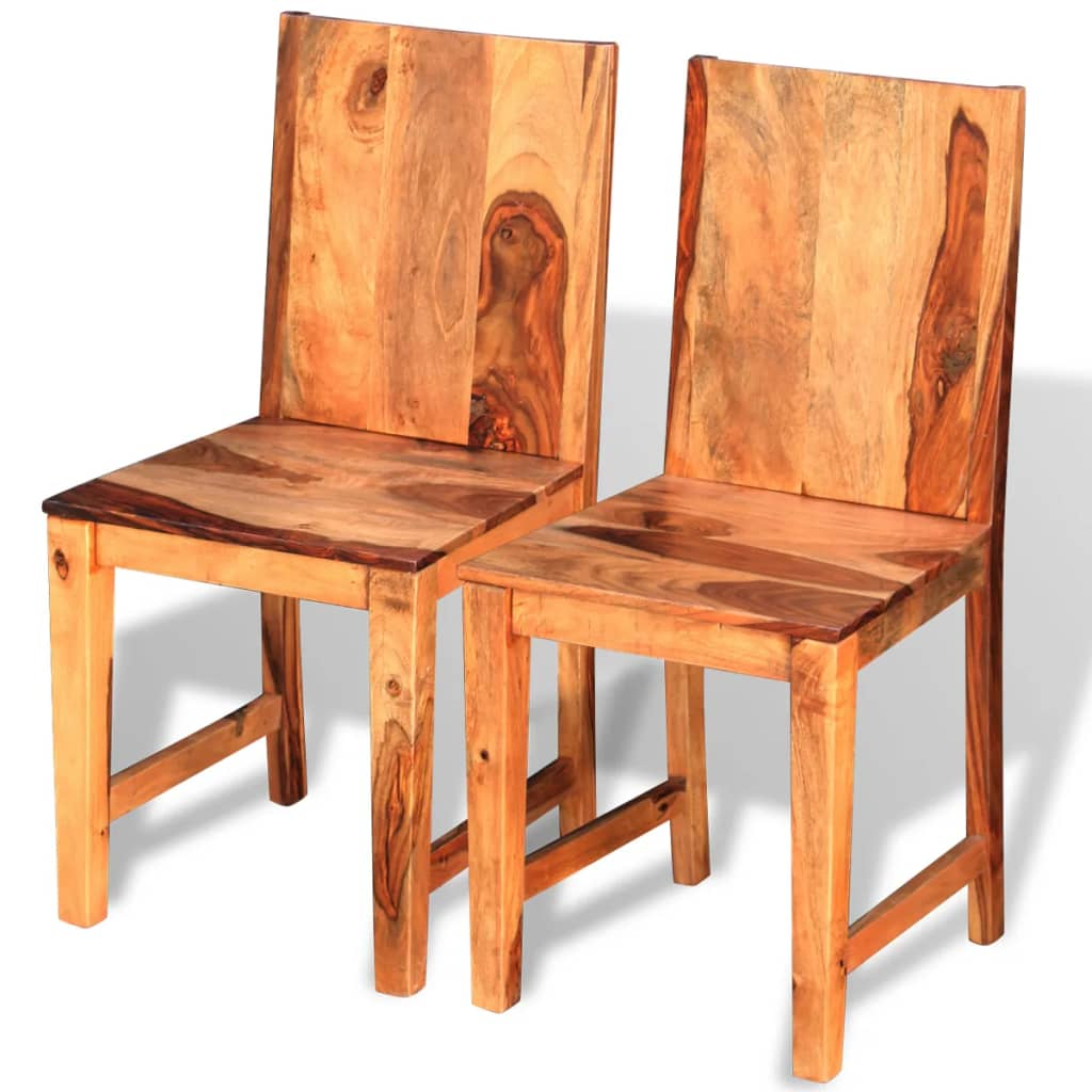 Acheter vidaxl chaises de salle manger en bois de for Chaise de salle a manger en solde