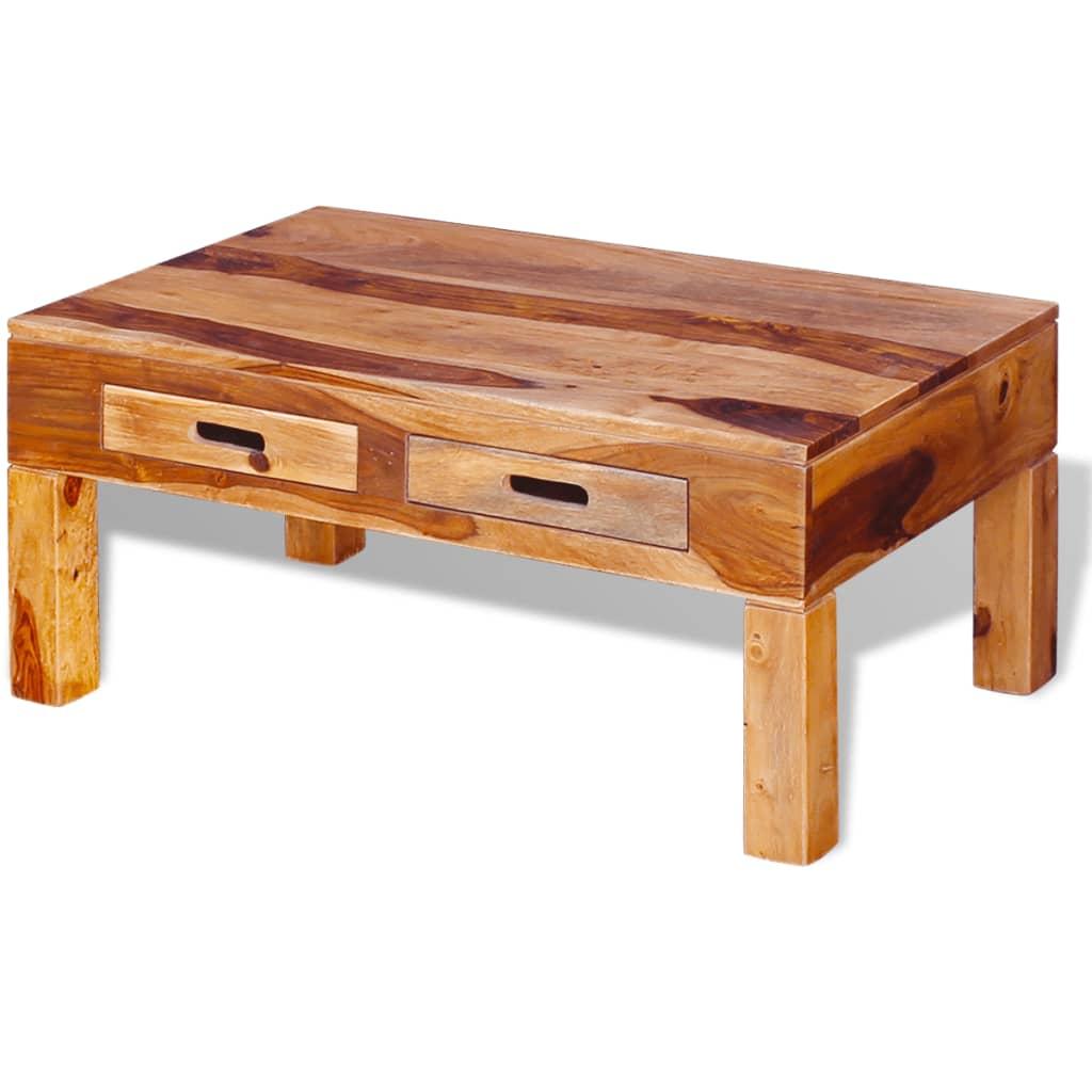 Vidaxl Coffee Table Solid Sheesham Wood Vidaxl Co Uk
