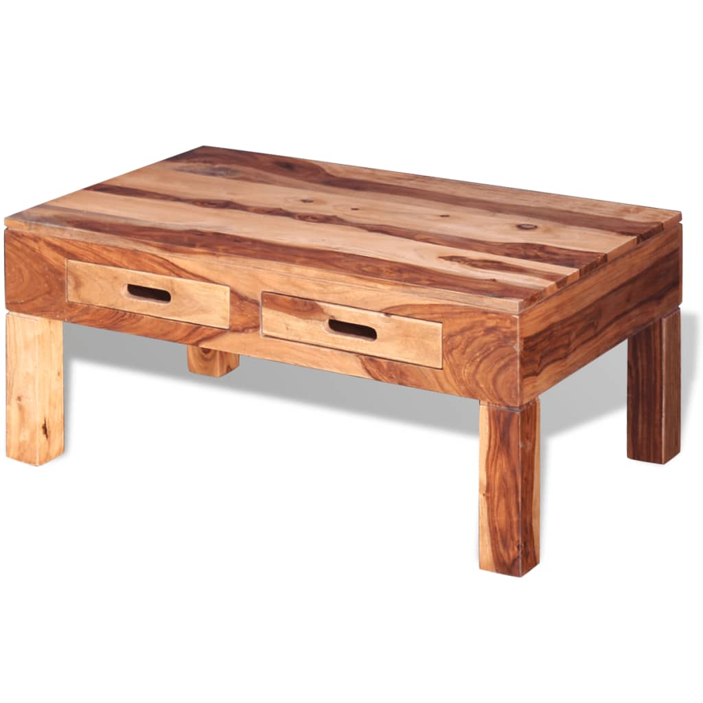 VidaXL Coffee Table Solid Sheesham Wood