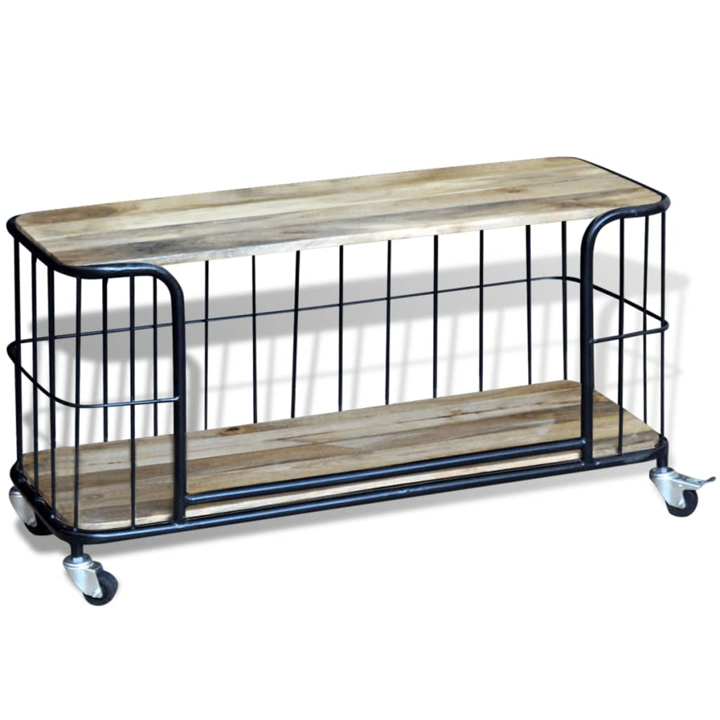 Acheter vidaxl meuble tv 100 x 40 x 45 cm bois de manguier for Meuble manguier massif
