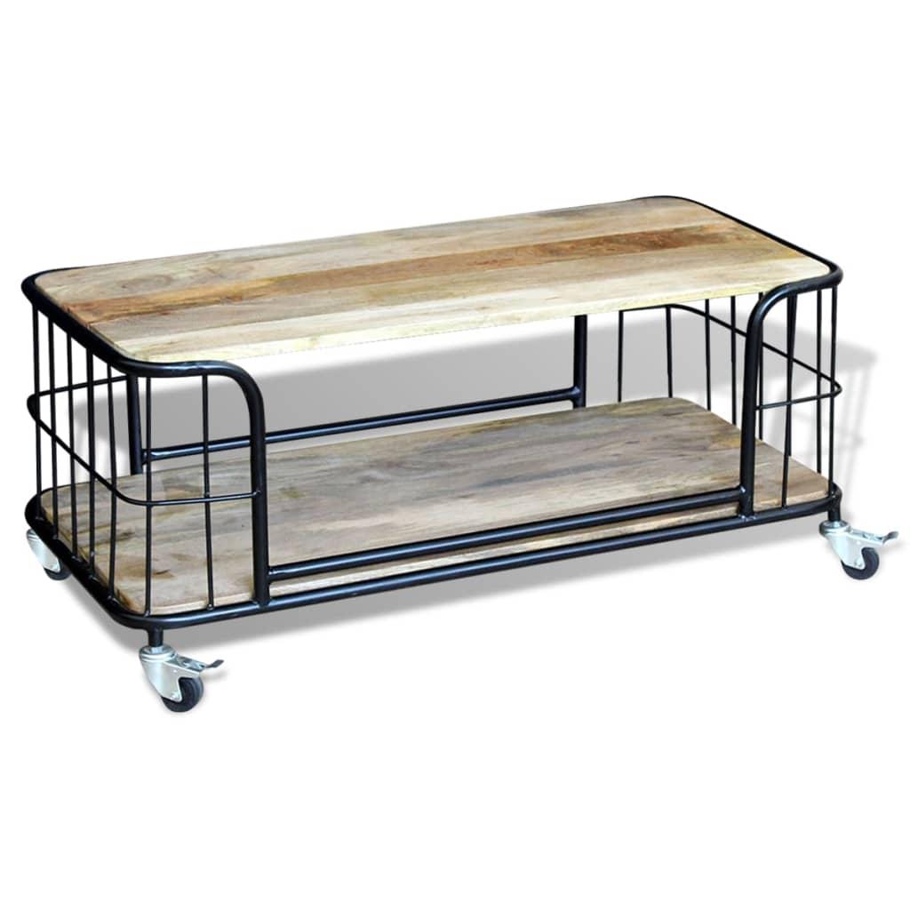 Vidaxl Coffee Table Solid Mango Wood 100x50x35 Cm