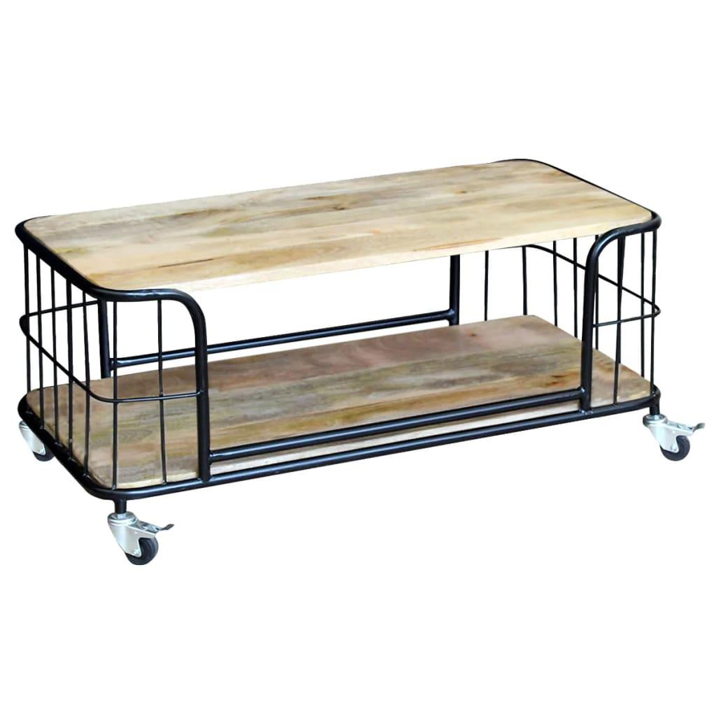 vidaXL 100x50x35 cm tömör mangó fa dohányzóasztal