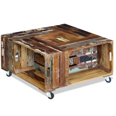 La boutique en ligne vidaxl table basse 70 x 70 x 35 cm en for Table basse recuperation