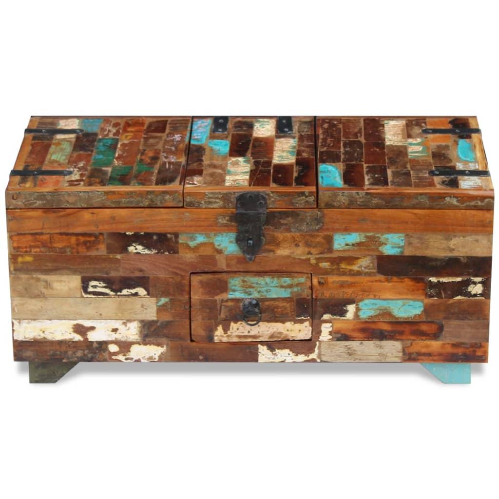 Solid Reclaimed Wood Coffee Table: VidaXL Coffee Table Box Chest Solid Reclaimed Wood