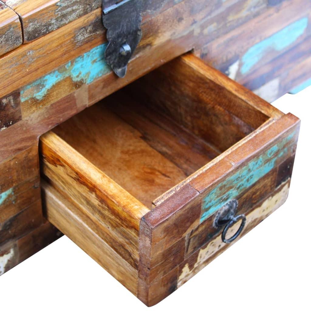 acheter vidaxl coffre table basse bois de r cup ration massif 80 x 40 x 35 cm pas cher. Black Bedroom Furniture Sets. Home Design Ideas