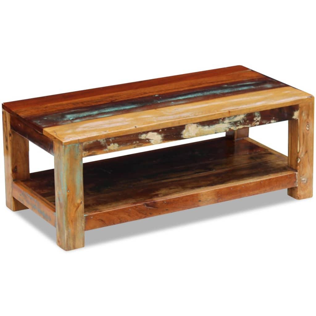 Vidaxl Coffee Table Solid Reclaimed Wood 90x45x35 Cm