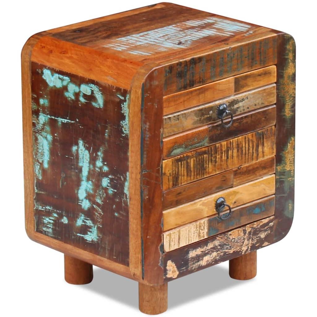 la boutique en ligne vidaxl table de nuit bois de r cup ration massif 43 x 33 x 51 cm. Black Bedroom Furniture Sets. Home Design Ideas