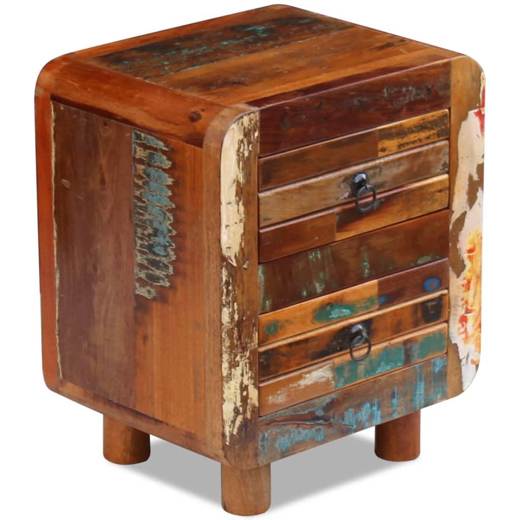acheter vidaxl table de nuit bois de r cup ration massif 43 x 33 x 51 cm pas cher. Black Bedroom Furniture Sets. Home Design Ideas