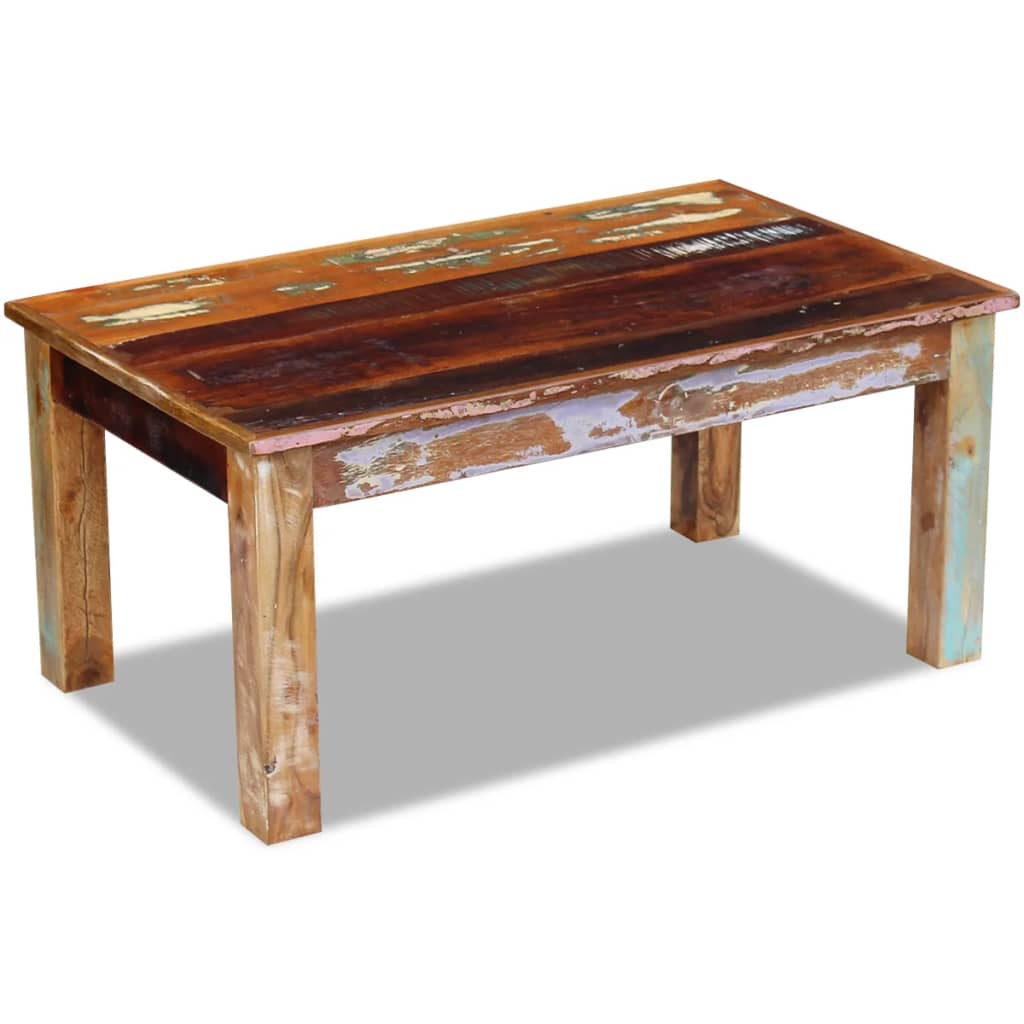 Vidaxl Coffee Table Solid Reclaimed Wood 100x60x45 Cm