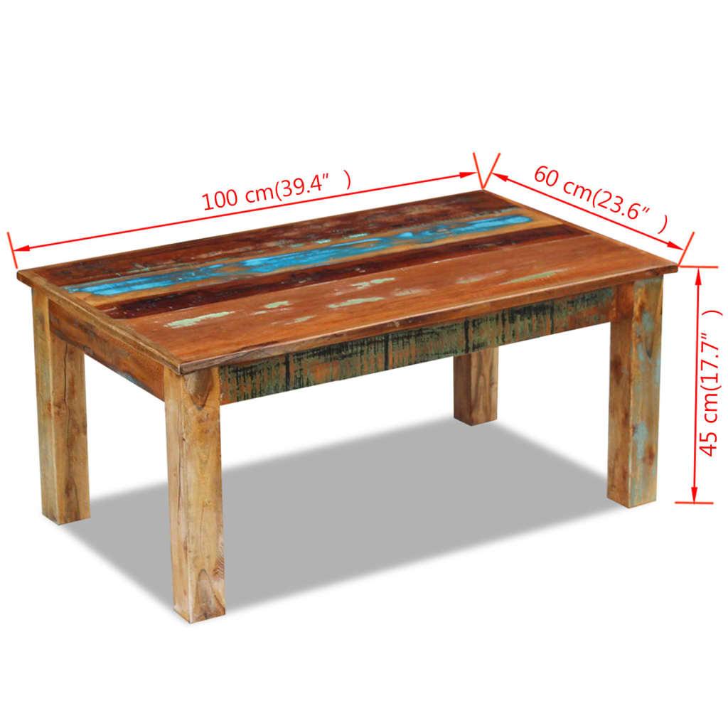 Vidaxl couchtisch recyceltes massivholz 100x60x45 cm for Couchtisch 100 x 60