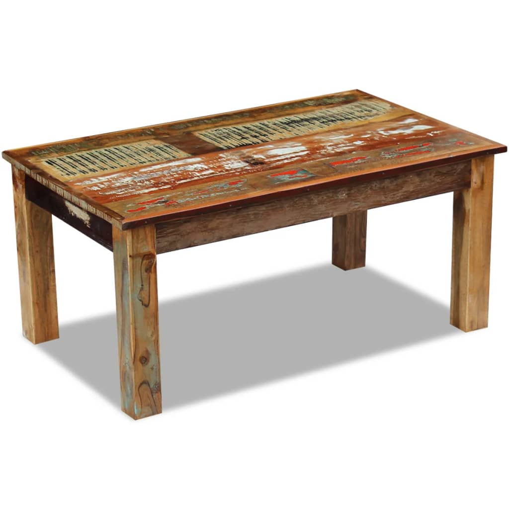 Reclaimed Wood Coffee Table Vintage Rustic Solid Living Room Furniture Handmade Ebay