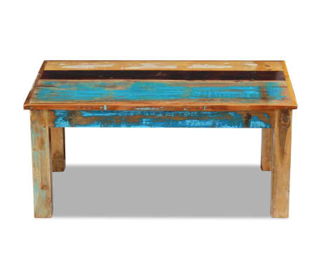 vidaxl table basse 100 x 60 x 45 cm bois de r cup ration massif. Black Bedroom Furniture Sets. Home Design Ideas
