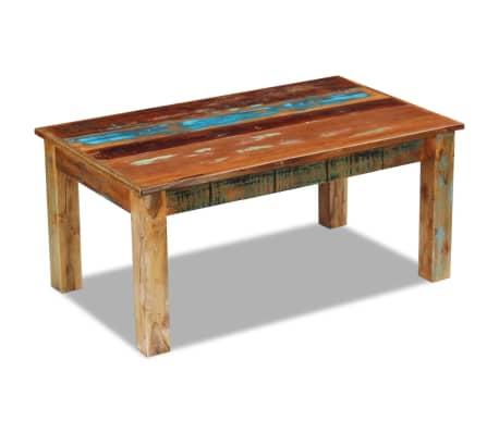 vidaXL Stolić za Kavu od Masivnog Obnovljenog Drveta 100x60x45 cm