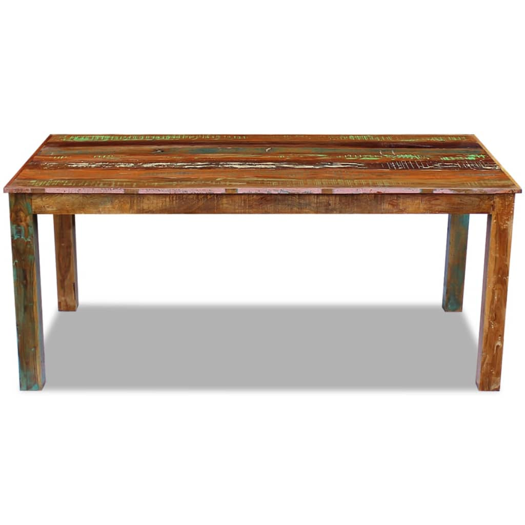 Vidaxl dining table solid reclaimed wood 180x90x76 cm for Table design 90 cm
