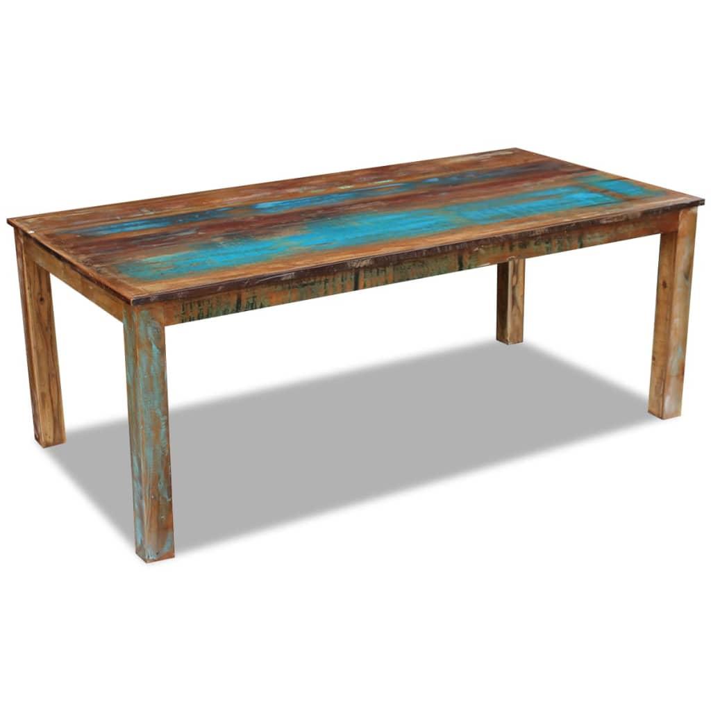 vidaXL Stół do jadalni z drewna odzyskanego 200x100x76 cm