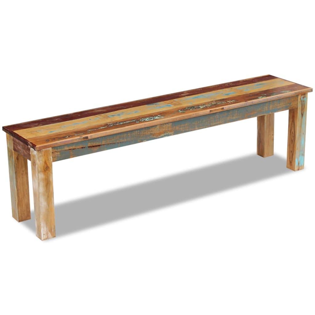 Solid Wood Bench Handmade Reclaimed Rustic Chair Home Garden Outdoor Seat 160cm Ebay