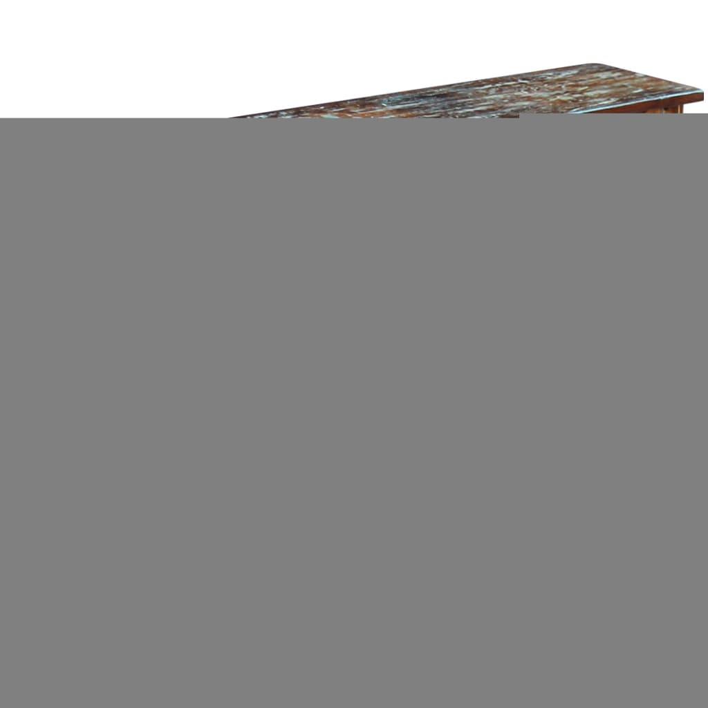 acheter vidaxl table console 120 x 30 x 76 cm bois de r cup ration massif pas cher. Black Bedroom Furniture Sets. Home Design Ideas