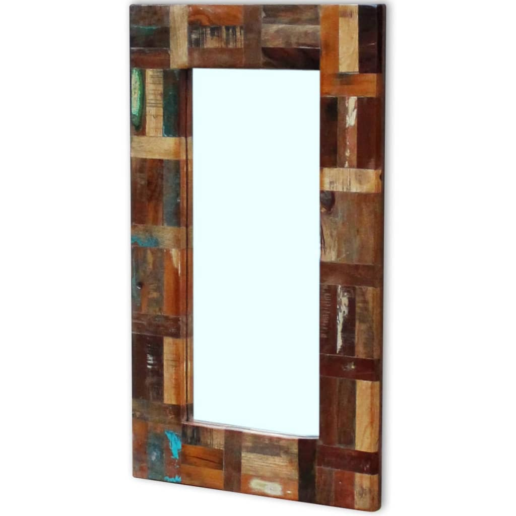 Acheter vidaxl miroir bois de r cup ration massif 80 x 50 for Miroir 50 x 80