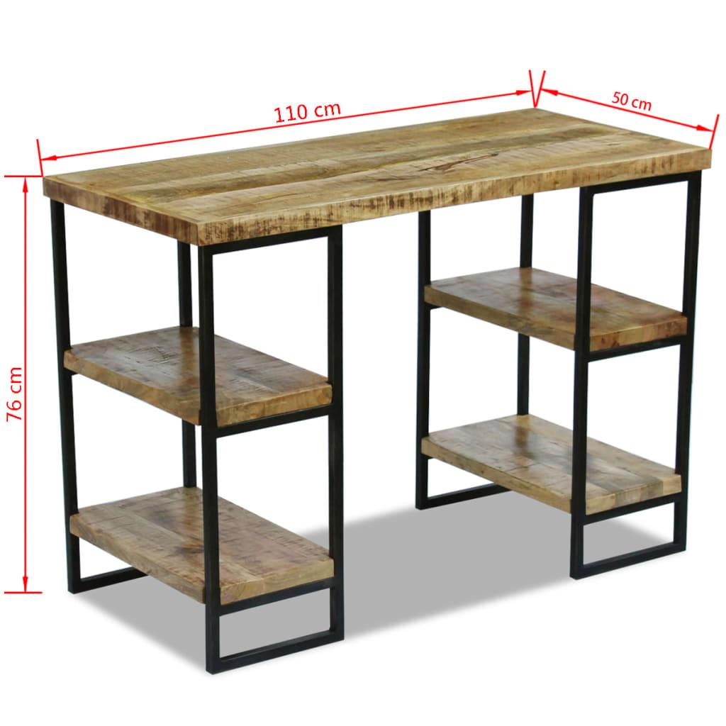 vidaxl escritorio de oficina madera de mango 110x55x76 cm tienda online. Black Bedroom Furniture Sets. Home Design Ideas
