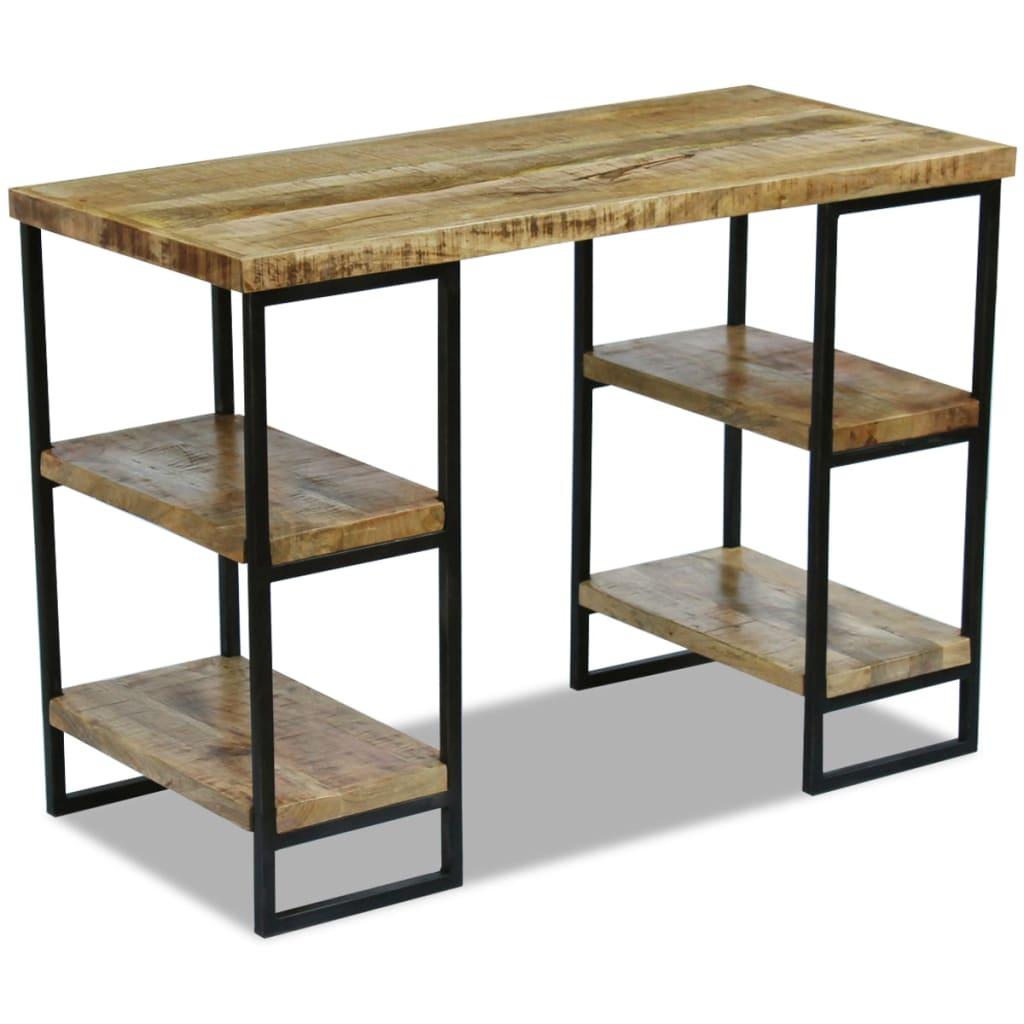 Vidaxl scrivania da ufficio in legno di mango 110x55x76 cm for Scrivania grande da ufficio