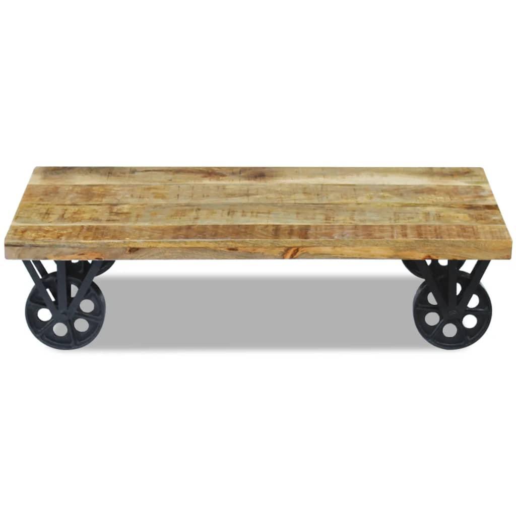 Vidaxl Coffee Table Mango Wood 120x60x30 Cm